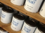 Paint display in boutique