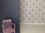 Stencilled Wall in Boutique