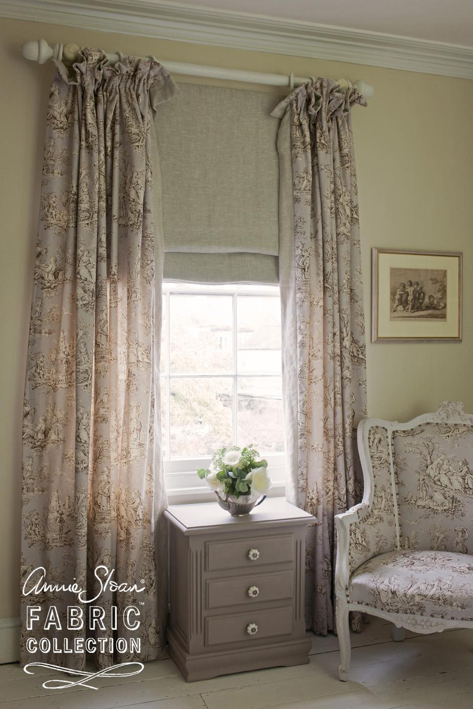 Annie Sloan Fabric Normandie Toile 1 metre Brocante In